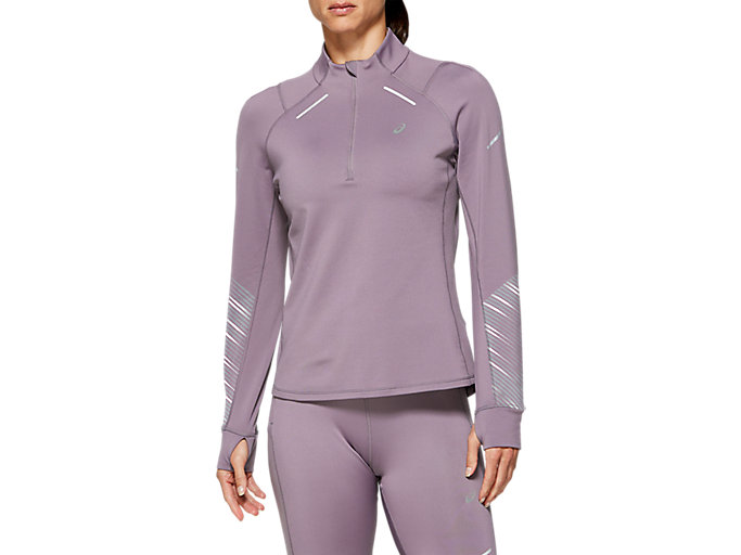 Alternative image view of LITE-SHOW 2 WINTER LS 1/2 ZIP TOP, Lavender Grey