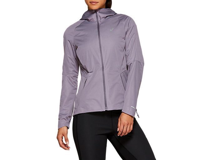 Front Top view of WINTER ACCELERATE JACKET, Lavender Grey