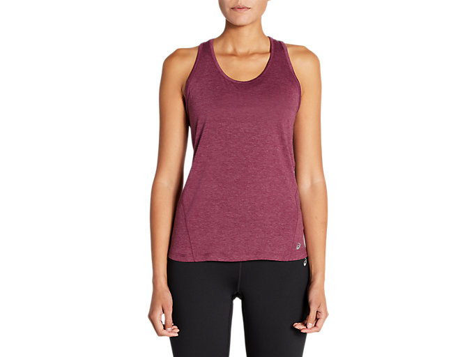 Front Top view of Sleeveless Heathered Tee