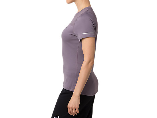 LITE-SHOW 2 SHORT SLEEVE TOP LAVENDER GREY