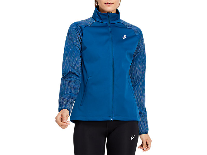 Alternative image view of REFLECTIVE JACKET, MAKO BLUE