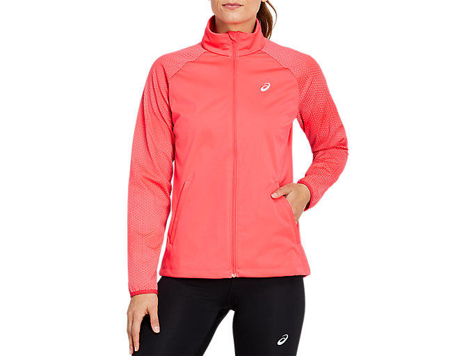 Alternative image view of REFLECTIVE JACKET, LASER PINK