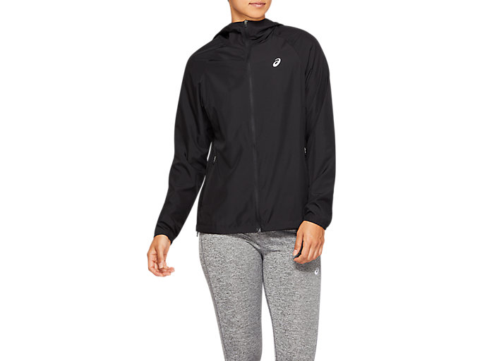 Alternative image view of RUN HOOD JACKET, Performance Black