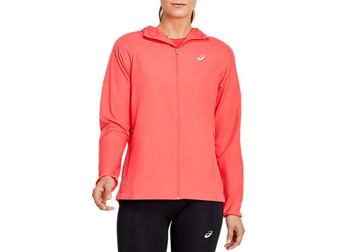 Alternative image view of RUN HOOD JACKET, LASER PINK