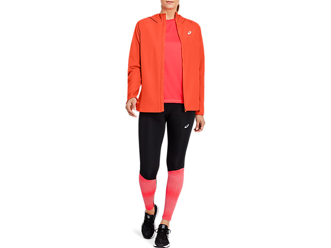 Alternative image view of RUN HOOD JACKET, Flash Coral