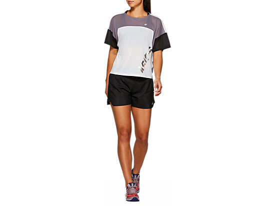 EMPOW-HER STYLE TOP BRILLIANT WHITE/LAVENDER GREY