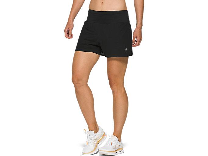 Women's VENTILATE 2-N-1 3.5IN SHORT   PERFORMANCE BLACK   Shorts ...