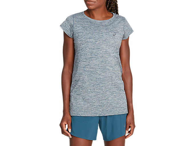 Alternative image view of RACE SEAMLESS SS TOP, Magnetic Blue