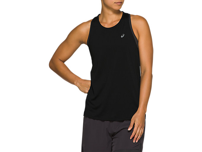 Alternative image view of RACE SLEEVELESS, Performance Black