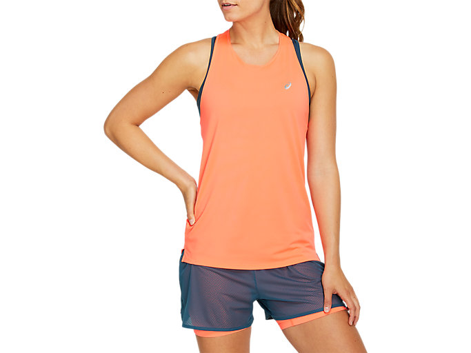 Alternative image view of RACE SLEEVELESS, FLASH CORAL
