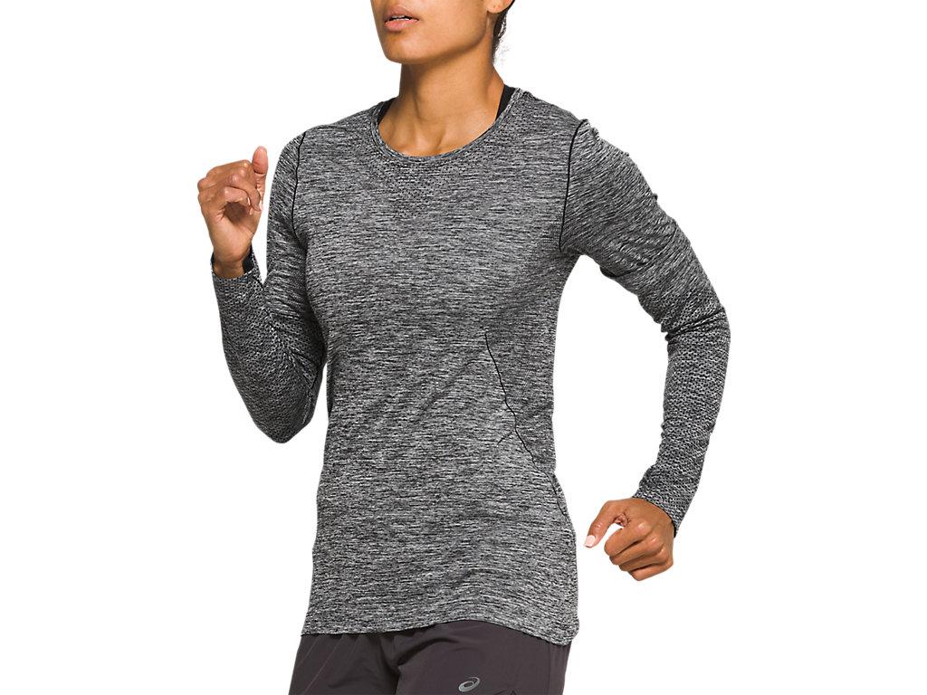 Women's RACE SEAMLESS LS | Performance Black | Long Sleeve Shirts ...