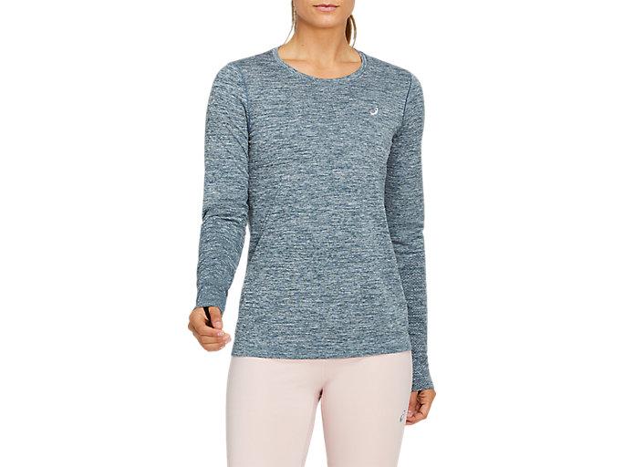 Women's RACE SEAMLESS LS   Magnetic Blue   Long Sleeve Shirts   ASICS