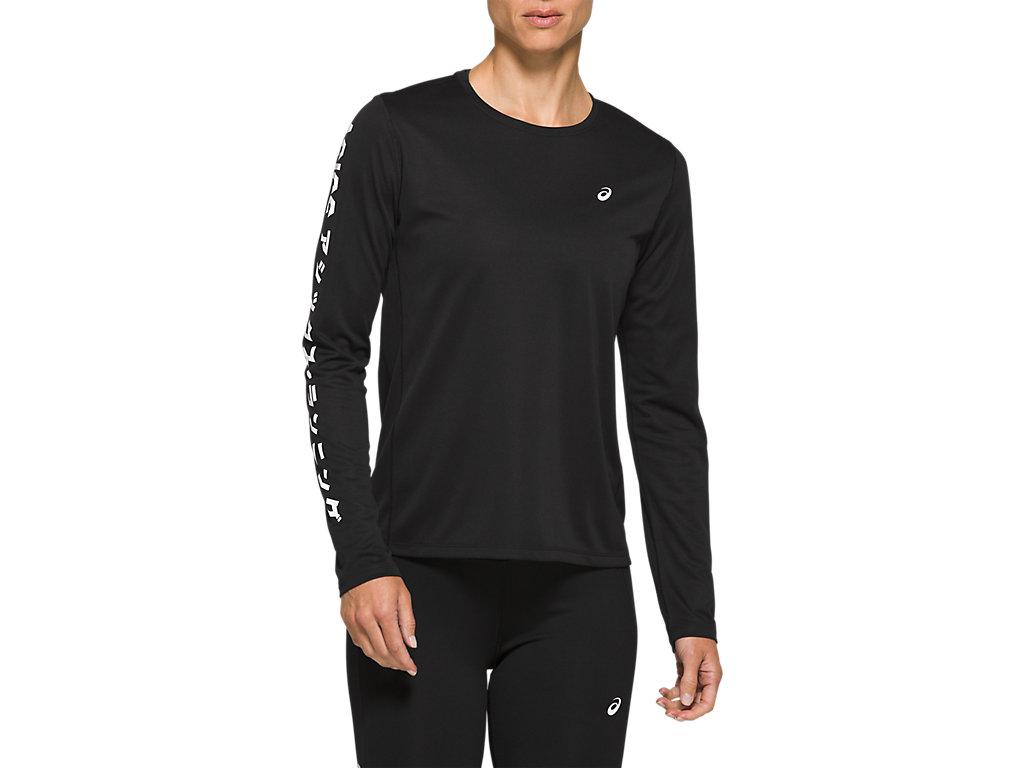 Women's KATAKANA LS TOP | Performance Black | Long Sleeve Shirts ...