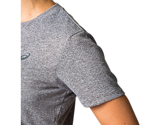 GRAPHIC SHORT SLEEVES TOP GRAPHITE GREY HEATHER