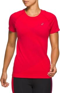 女式TOKYO無縫拼接跑步短袖T恤