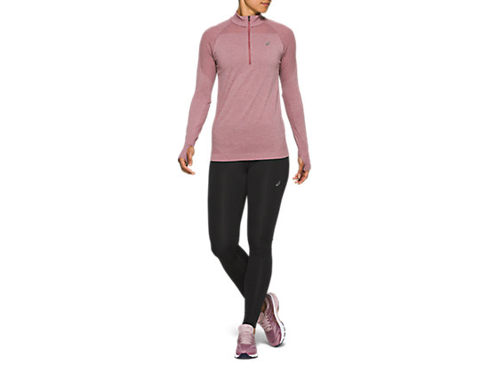 RACE SEAMLESS 1/2 ZIP PURPLE OXIDE