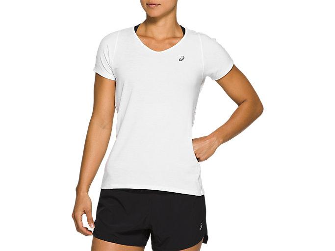 Alternative image view of V-NECK SS TOP, Brilliant White