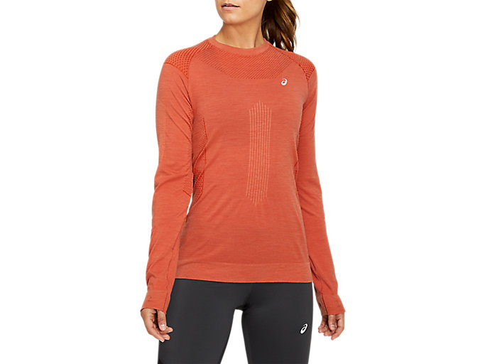 Alternative image view of WINTER SEAMLESS LONG SLEEVE TOP