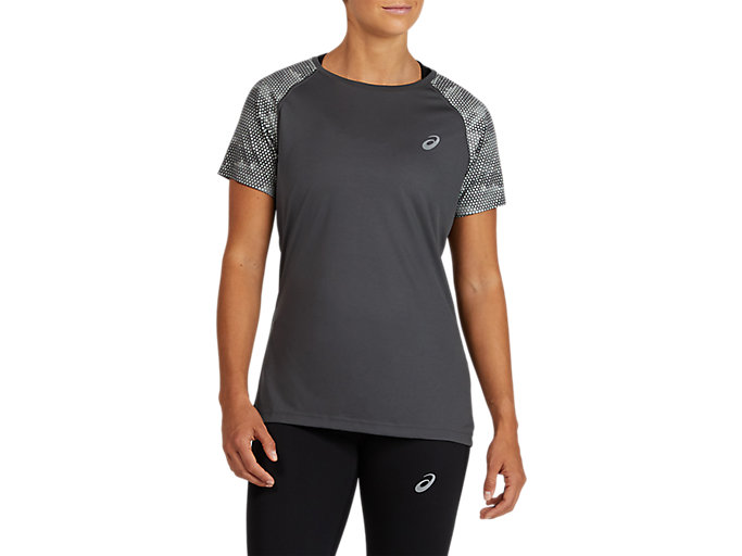 Alternative image view of SPORT RFLC SS TOP, DARK GREY