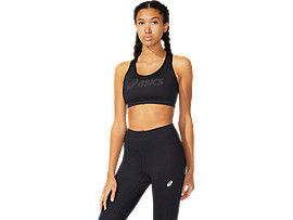 ASICS  Logo Bra Performance Black / Performance Black Mujer Talla L