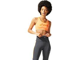 ASICS  Logo Bra Sun Peach / Marigold Orange Mujer Talla L