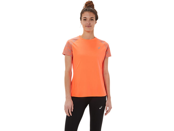 Alternative image view of SPORT RFLC SS TOPS, Flash Coral/Silver Refelective