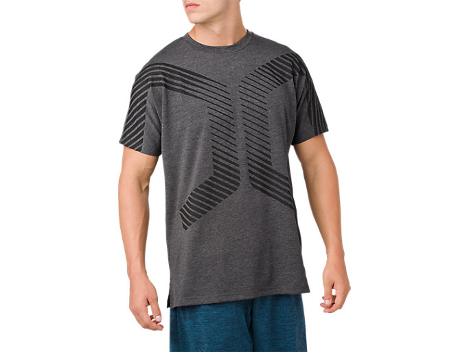 Alternative image view of POWER SS TOP, PERFORMANCE BLACK HEATHER
