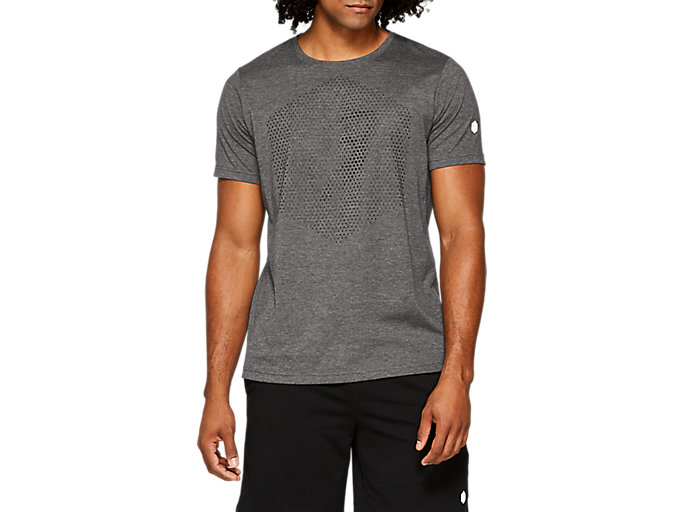 Small Nero T-Shirt Homme, Asics Graphic SS Top