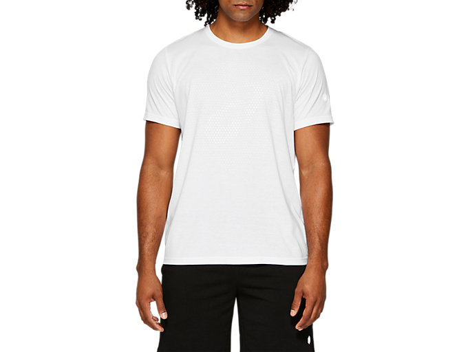 Front Top view of ESSENTIAL COTTON BLEND GPX SS TOP, BRILLIANT WHITE
