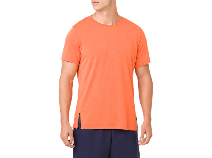 Front Top view of GEL-COOL 2 SS TOP, NOVA ORANGE HEATHER
