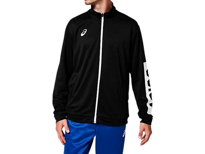 Alternative image view of CAトレーニングジャケット, パフォーマンスブラック×ブリリアントホワイト