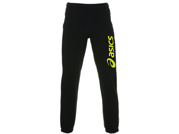Alternative image view of ASICS BIG LOGO SWEAT PANT, Performance Black/Sour Yuzu
