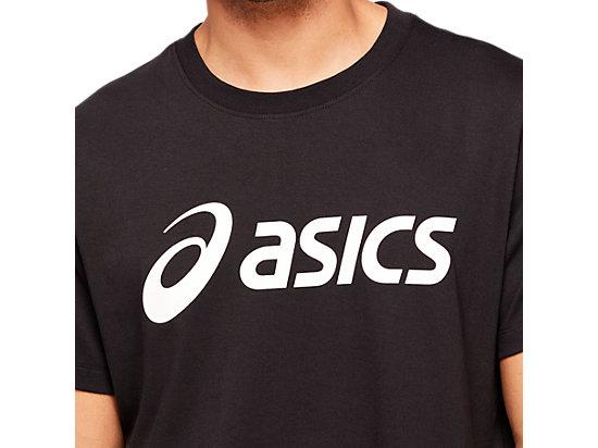 ASICS BIG LOGO TEE PERFORMANCE BLACK/ BRILLIANT WHITE