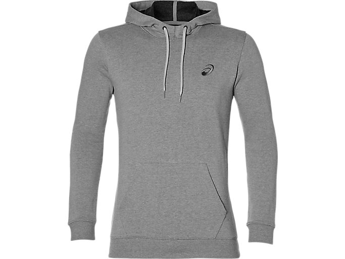 Alternative image view of ASICS CHEST LOGO OTH HOODIE, MID GREY HEATHER