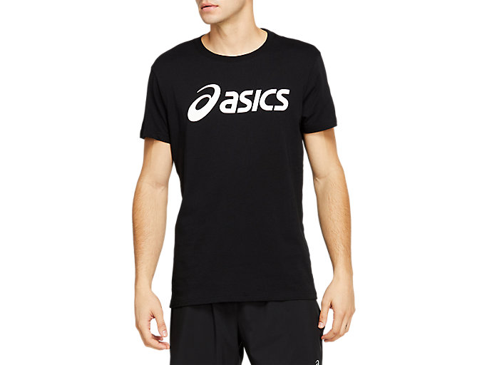 Alternative image view of SPORT LOGO TEE, PERFORMANCE BLACK/BRILLIANT WHITE