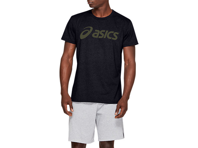 Alternative image view of SPORT LOGO TEE, Performance Black/Smog Green