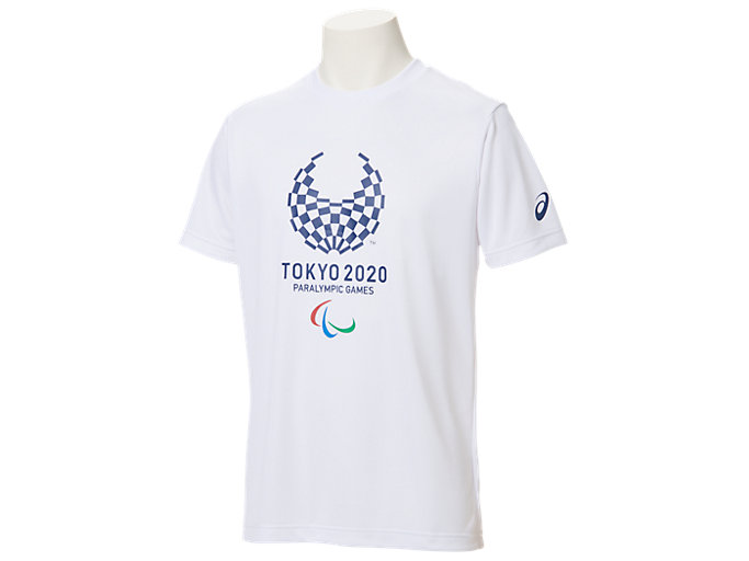 Front Top view of Tシャツ(東京2020パラリンピックエンブレム), ホワイト