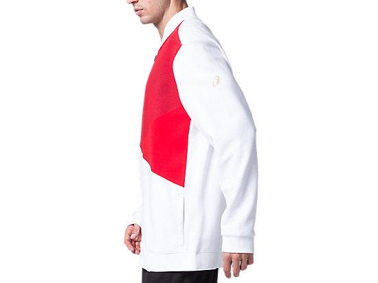運動復古針織外套 BRILLIANT WHITE/CLASSIC RED