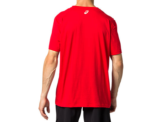 TRIBLEND TRAINING SHORT SLEEVE TOP CLASSIC RED/BRILLIANT WHITE