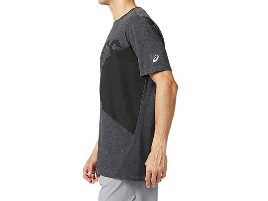 運動印花短袖T恤 GRAPHITE GREY HEATHER/PERFORMANCE BLACK