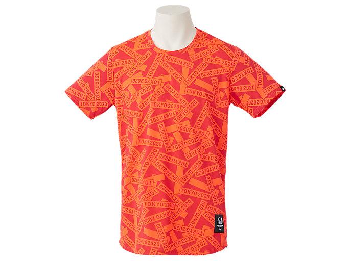 Alternative image view of Tシャツ(東京2020パラリンピックエンブレム), レッド