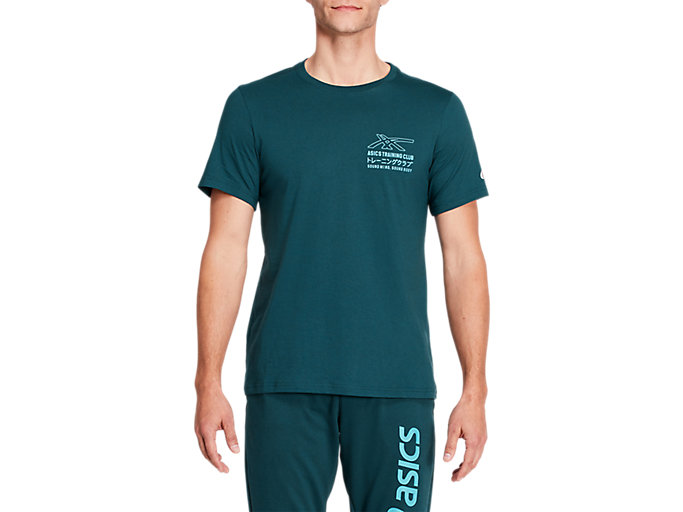 Alternative image view of SMSB GRAPHIC TEE II, Magnetic Blue/Techno Cyan