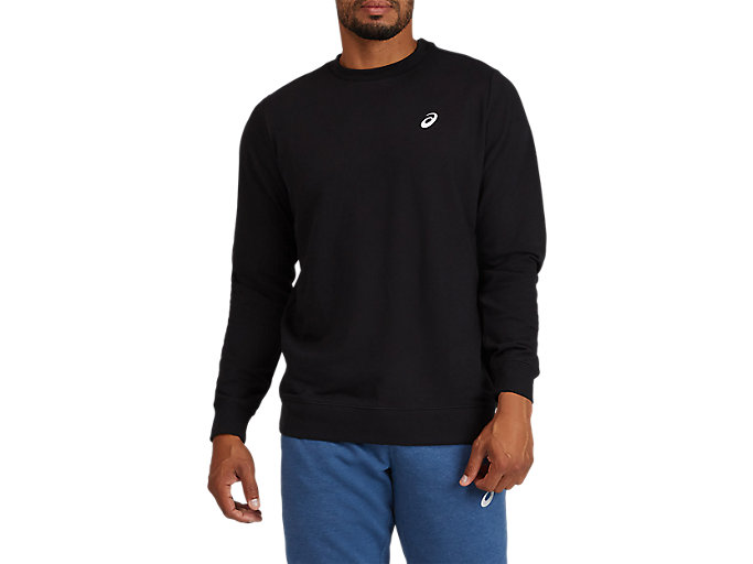 Alternative image view of CREW NECK, PERFORMANCE BLACK