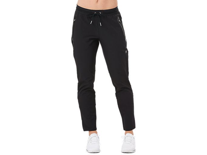 Front Top view of STRETCH WOVEN PANT, PERFORMANCE BLACK