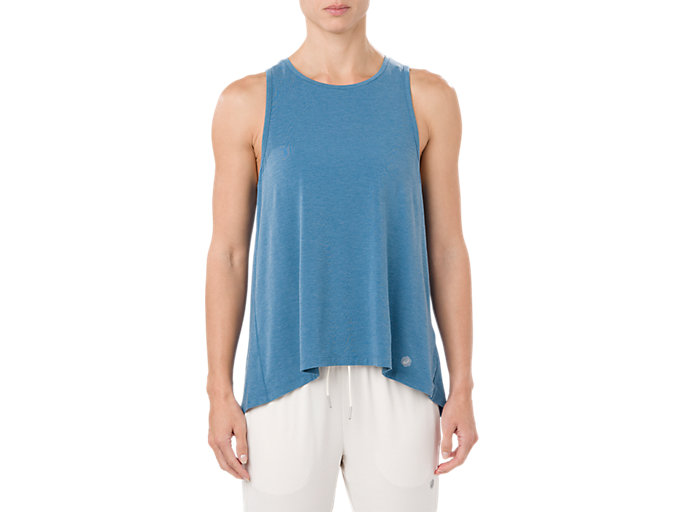 Front Top view of DRAPE TANK, AZURE