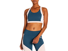 ASICS Color Block Bra 2 Magnetic Blue Mujer Talla L
