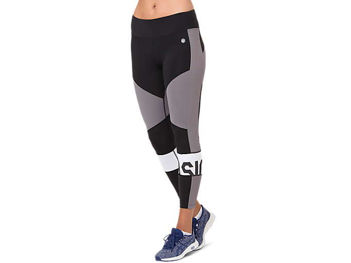 Women's COLOR BLOCK CROPPED TIGHT 2 | PERFORMANCE BLACK ...
