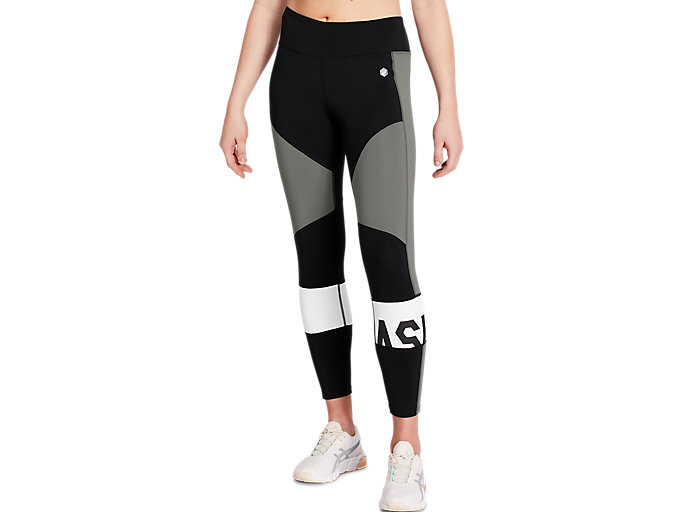 Alternative image view of COLOR BLOCK CROPPED TIGHT 2, Performance Black/Carbon