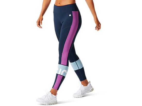 COLOR BLOCK CROPPED TIGHT 2 FRENCH BLUE/DIGITAL GRAPE