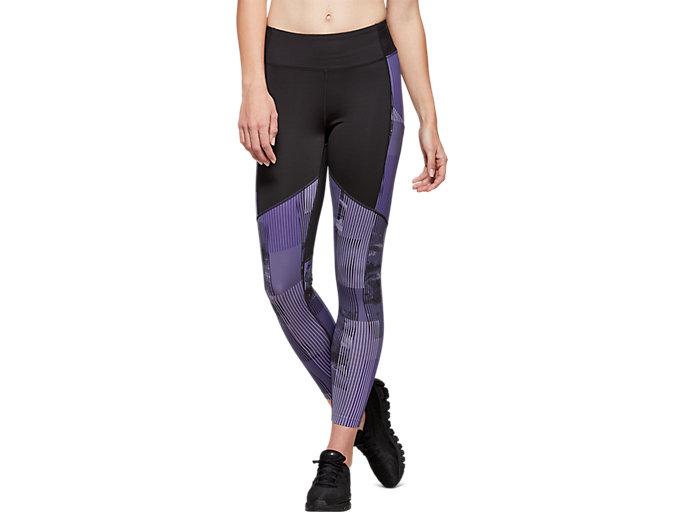 Women's Printed Train Legging | Performance Black/Dusty Purple ...